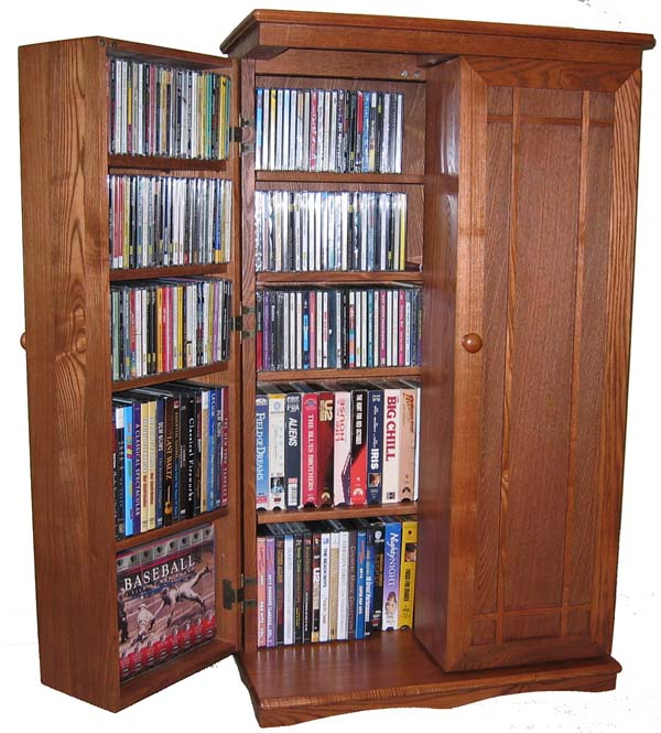 Dvd Storage Cabinets Home Theater Forum, Dvd Storage With Doors